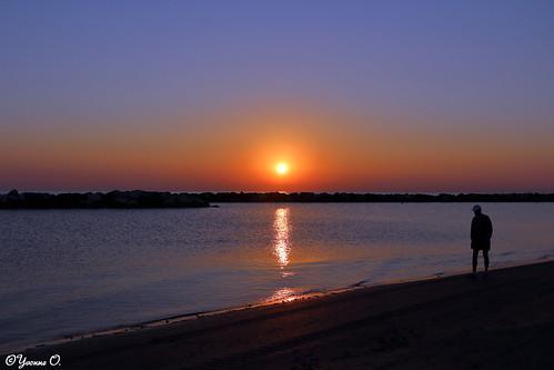 beach silhouette strand sunrise landscape meer rimini landschaft sonnenaufgang mediterraneansea mittelmeer