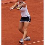 Elena Vesnina au service