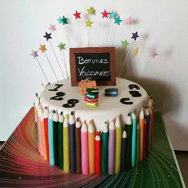 Colorful Cake for Students by Delphine Blanc