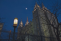 LDS Temple moon