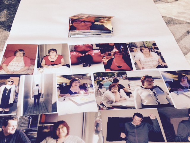 Printed photos for 20th Wedding Anniversary Collage