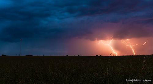 summer storm field poland lightning pl silesia częstochowa śląskie kamyk gruszewnia