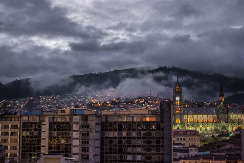 city panorama cloud skyline night landscape ecuador ciudad paisaje