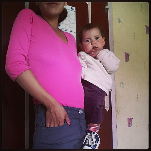 Look en duo. Maman: #longchamps #nafnaf bébé: #puma #hetm #converses #blog #blogueuse #mode #look #baby