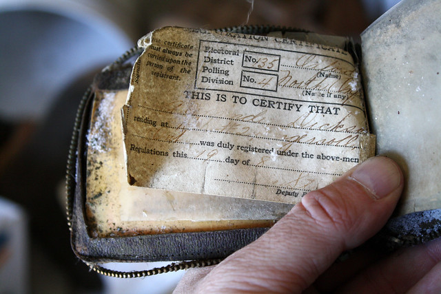 Alexander Dickson's Voter Registration Certificate