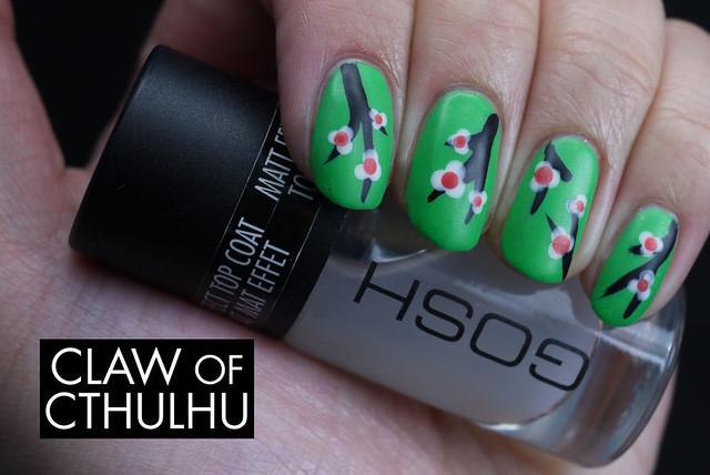 Cherry Blossom Nail Art with Rainbow Honey FAB Summer Set
