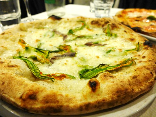 Pizza Bianca with Zucchini Flowers