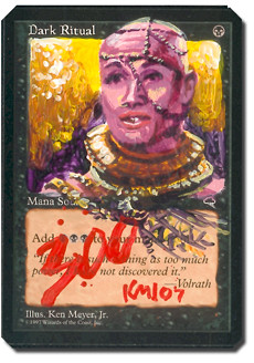 Dark Ritual Tempest Ken Myer Jr Magic the gathering altered artwork magic card artwork mtg artwork