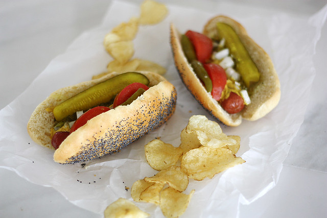 Authentic Chicago Hot Dog Ingredients