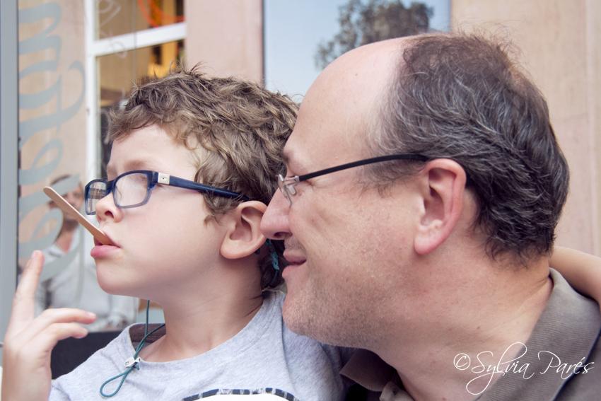 Con papá...