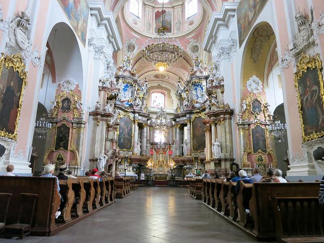 Rococo church in Vilnius.