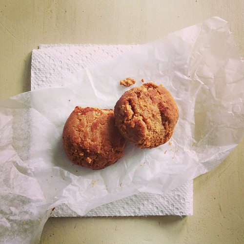 Beach House Snack: #vegan #glutenfree peanut butter cookies from The Barbaric Bean in Ocean Grove.