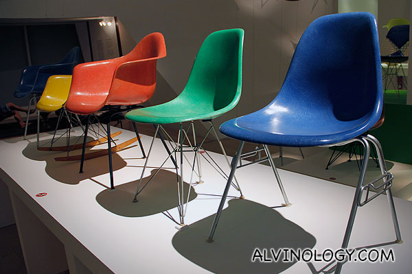 Bright coloured chairs