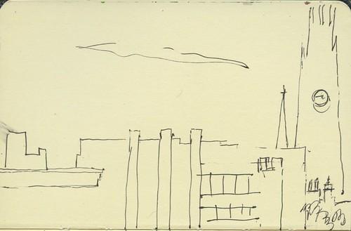 new haven skyline from parking garage by Bricoleur's Daughter