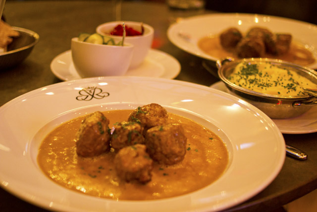 Meatballs at Riche Stockholm