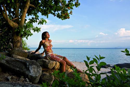 Kamalaya Koh Samui beach girl