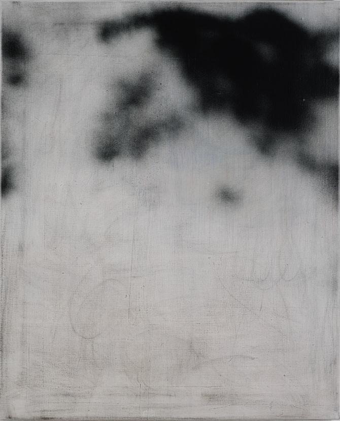 CHRISTINA CHIRULESCU o.T, Öl,Acryl,Sprühlack auf Lw, 70x57, 2013