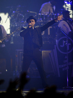 Justin Timberlake performs at  the iHeartRadio Music Festival