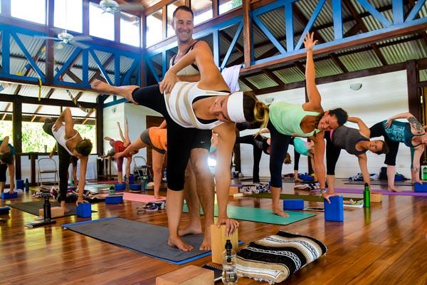 Yoga Teacher Training in Costa Rica Half Moon Pose