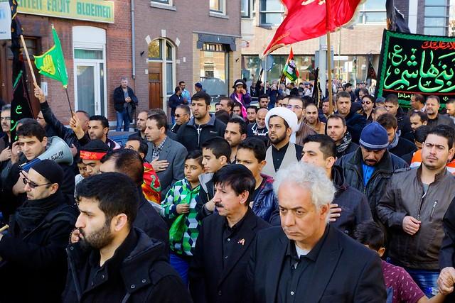 Herdenking moord op Hussein, kleinzoon van de Profeet Mohammed. Foto door Roel Wijnants.