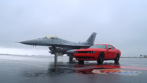 F-16 Viper and Dodge Challenger Hellcat