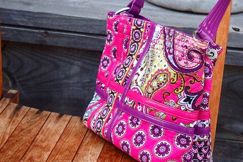 Zippidy Tote Crossroads Collection in Very Berry Paisley