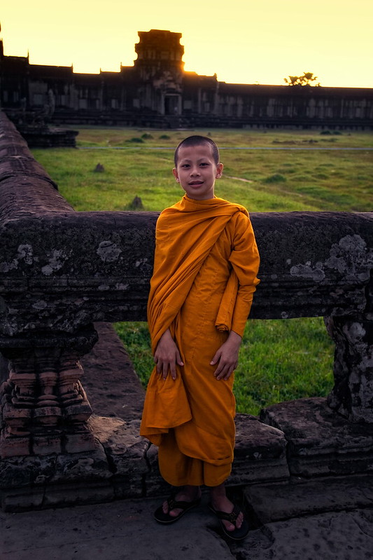 A Novice Monk At Angkor Wat