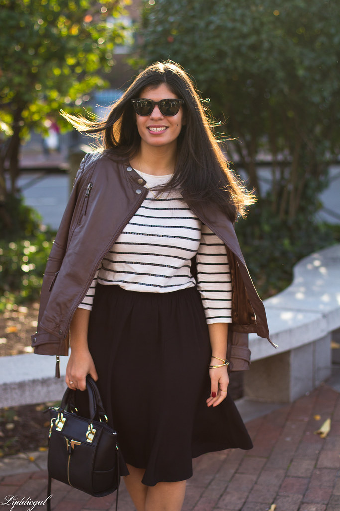 leather jacket, black skirt, striped shirt-9.jpg