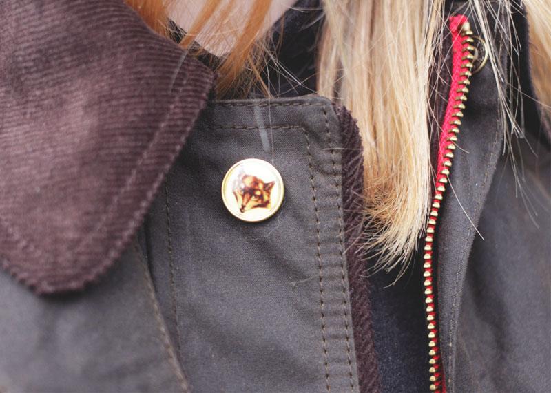 Joules Wax Jacket Details, Bumpkin Betty