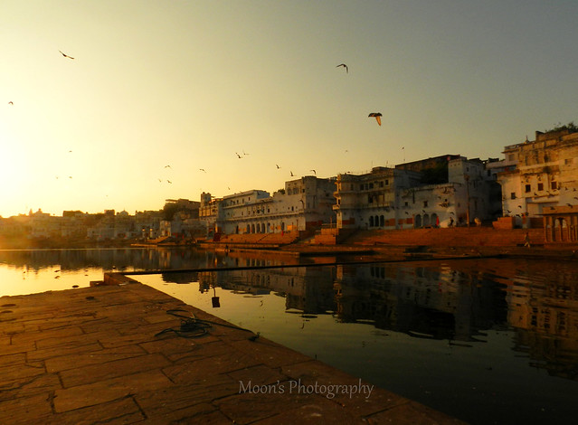 Dusk falling over the holy #lake, #Pushkar #Rajasthan #India