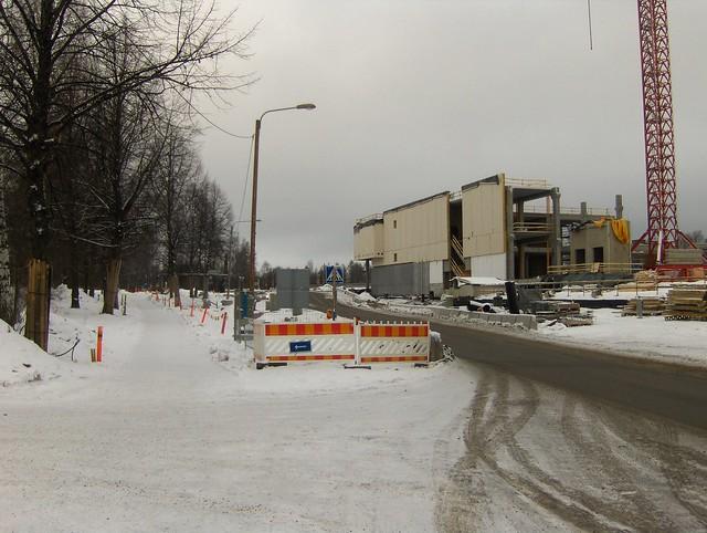 Hämeenlinnan moottoritiekate ja Goodman-kauppakeskus: Työmaatilanne 13.1.2013 - kuva 6