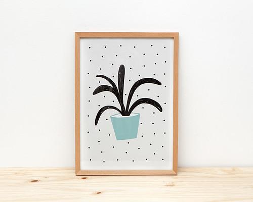 Planta Verde Print by Depeapa