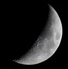 Waxing Crescent, 34% of the Moon is Illuminated taken on a Cloudy November 27, 2014 Thanksgiving Day wiith a Canon SX50 HS IMG_2098