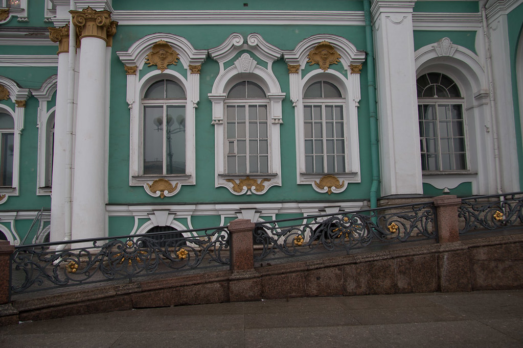 Outside the Hermitage in St. Petersburg, Russia