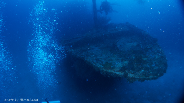 なかなかいい雰囲気の沈船でした!