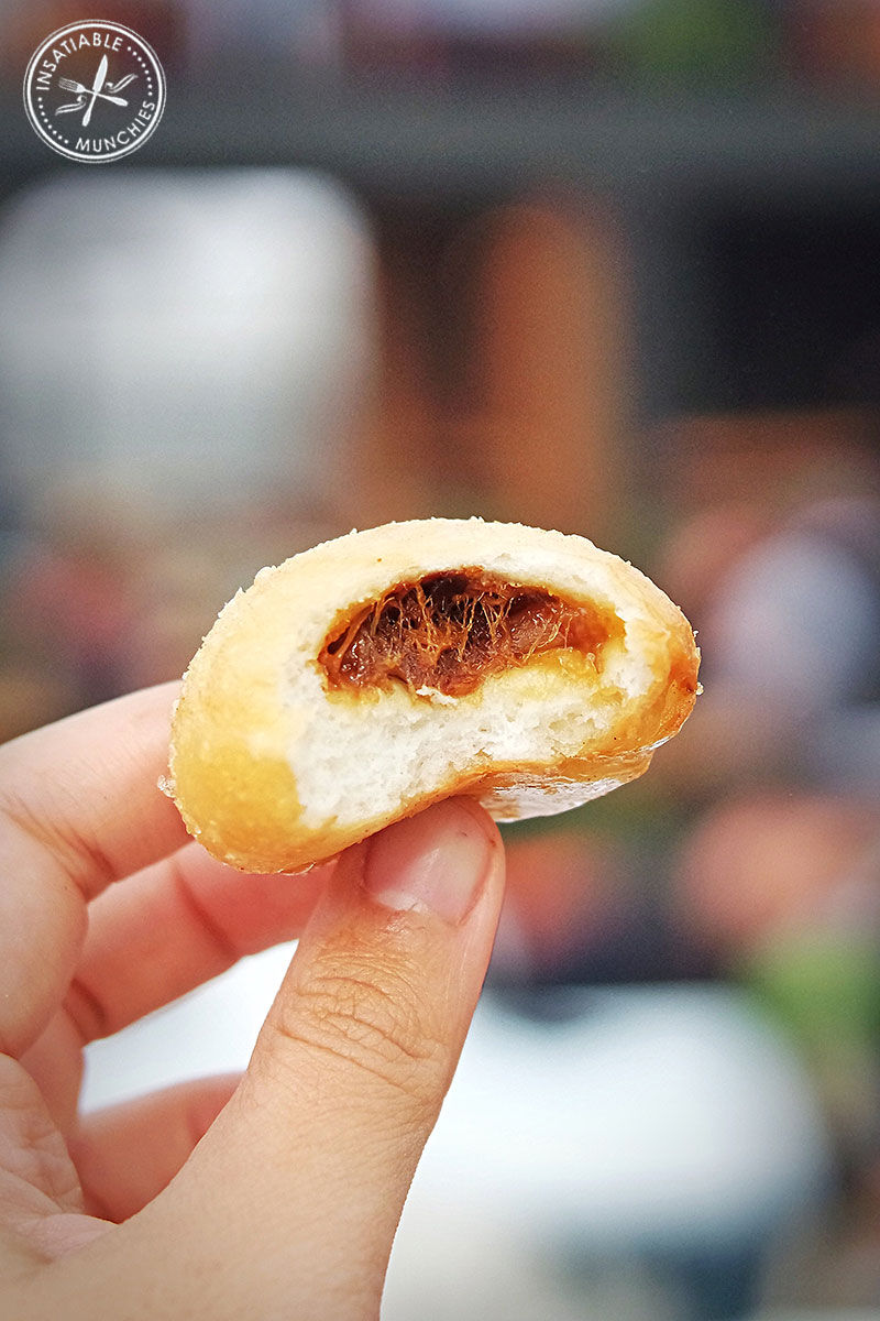 Chilli caramel pork doughnuts with plum dipping sauce from Fred Loves Korean