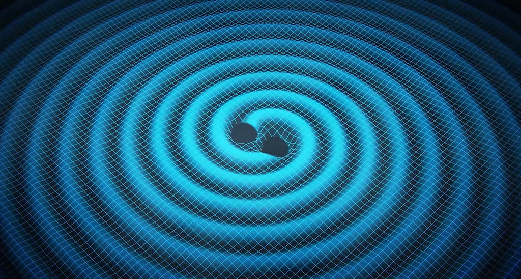Black Hole in Ocean Merging Black Holes Ripple