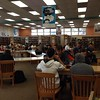 Even the day before break, we are packed full in the library at lunch