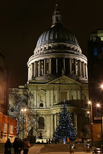 St Paul's at night