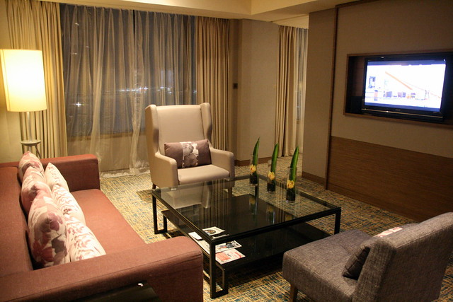 The Junior Suite living room