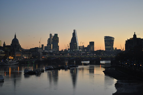 City of London skyline, dawn