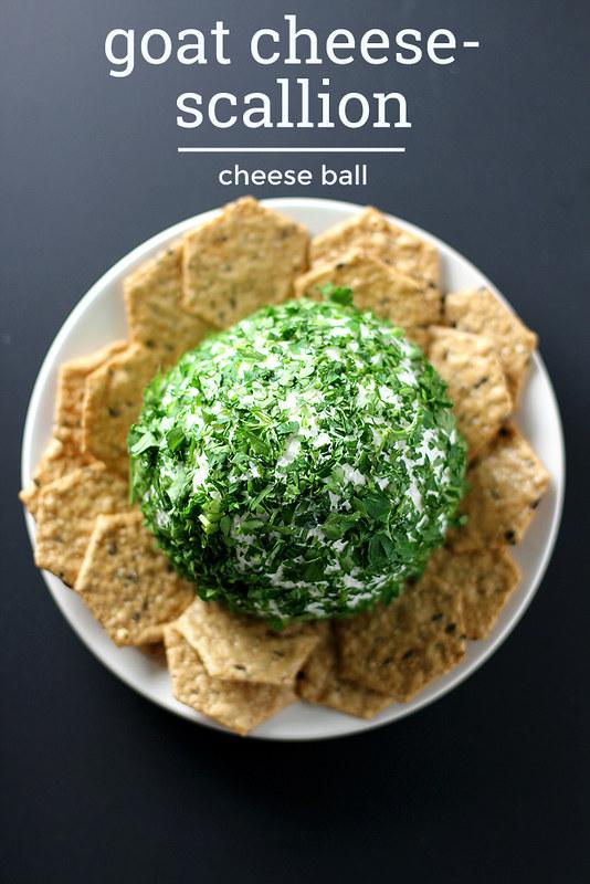 Goat Cheese-Scallion Cheese Ball | girlversusdough.com @stephmwise