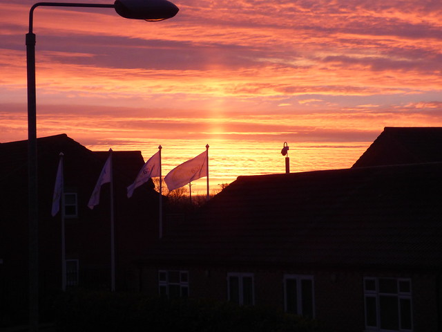 Sunrise over Holderness Grange Lifestyle Village