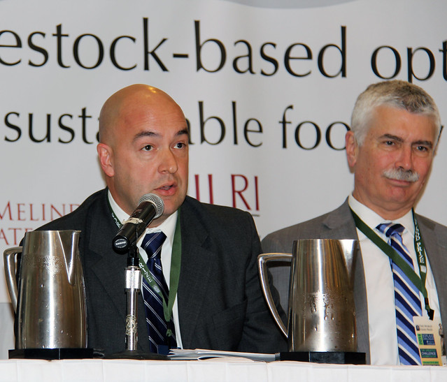 Two ILRI session panel members at the Borlaug Symposium