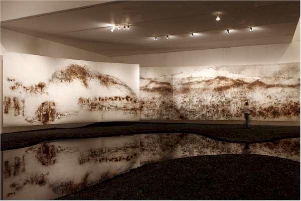 Vista de la instalación de Resplandor y Soledad en el Museo Universitario ArteContemporáneo, UNAM, Ciudad de México, 2010. Foto de Diego Berruecos, cortesía de MUAC.