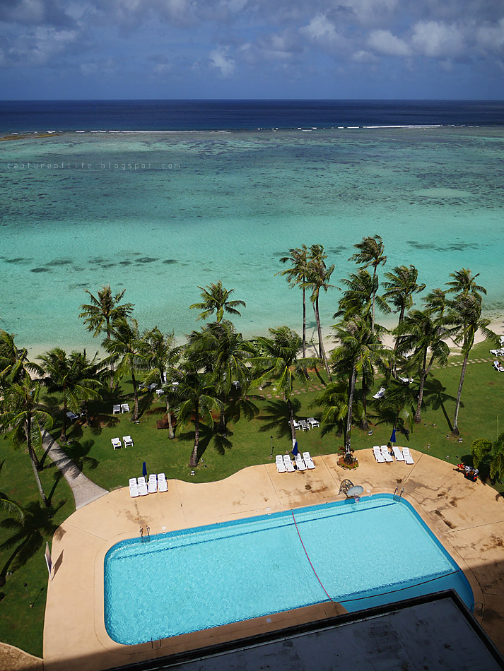 Trip to Guam-- swimming pool and the sea