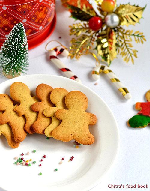 Eggless Gingerbread Men Cookies Recipe
