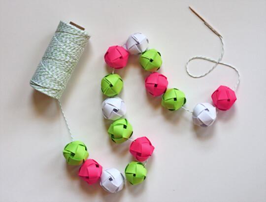 woven paper ball