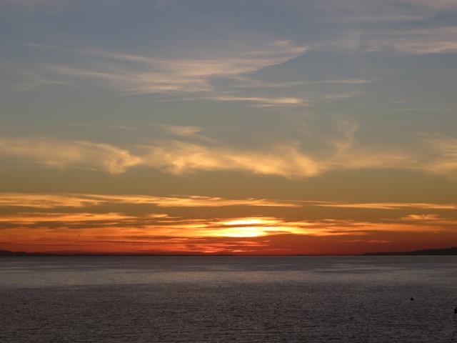 horizon brightens