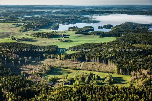 3 natur sverige swe västragötaland rud flygfoto högsäter